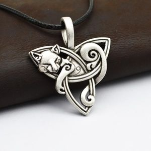 Jewelry - Celtic Cat and Triquetra Necklace